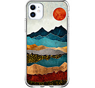 abordables -Conception spéciale Paysage Cas Pour Apple iPhone 12 iPhone 12 Pro Max iPhone XR Modèle unique Étui de protection Antichoc Transparente Motif Coque Arriere TPU