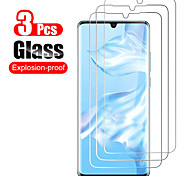 abordables -Protection Ecran Huawei Verre Trempé HUAWEI P40 HUAWEI P40 Pro HUAWEI P40 Pro + Huawei P30 Huawei P30 Pro 3 pcs Haute Définition (HD) Dureté 9H Antidéflagrant Ecran de Protection Avant Film Vitre