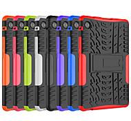 economico -telefono Custodia Per Huawei Per retro Huawei Mediapad T5 10 Huawei Mediapad M5 Lite 10 Resistente agli urti Con supporto Tinta unita TPU PC