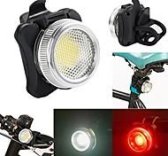 abordables -Nouvelle arrivée 2018 usb rechargeable vélo vélo cob led tête avant arrière feu arrière (noir)