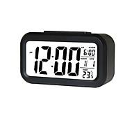 economico -sveglia display a led sveglia digitale snooze luce notturna batteria orologio con data calendario temperatura per camera da letto viaggio ufficio a casa (non includere batterie)