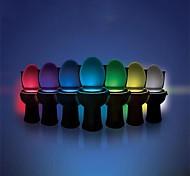 abordables -Lumière de cuvette de toilette ywxlight® 8 couleurs lumière de toilette à lumière humaine capteur de mouvement humain lumière de salle de bain toilette veilleuse pir activé automatiquement