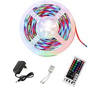 abordables -bande lumineuse LED RVB 5m 300 LEDs 2835 SMD ruban flexible bande de lumière LED bande de diode 12V kits d'éclairage LED avec télécommande à 44 touches&ampli; alimentation pour la décoration