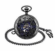 economico -orologio da tasca da uomo con catena, orologi da scheletro steampunk analogici da uomo retrò, orologio da taschino meccanico a carica manuale con numeri romani da uomo