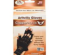 abordables -gants de compression sans doigts mains en cuivre par bulbe, soulage les articulations, les tendons,& douleur musculaire