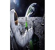 """economico -astronauti sulla luna stampa di poster da parete in stoffa arrotolata - dimensioni: (40 """"x 24"""" / 21 """"x 13"""")"""