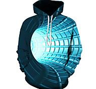 abordables -Homme Sweat-shirt à capuche Graphique 3D Quotidien Impression 3D basique Pulls Capuche Pulls molletonnés Bleu Violet Rouge