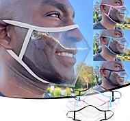 abordables -adulte unisexe langue des lèvres anti-poussière smog et anti-crachat matériel PVC masque transparent