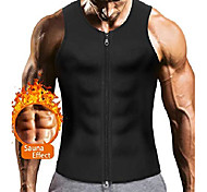 abordables -gilet de corset d'entraîneur de taille de sauna pour hommes avec fermeture à glissière pour la perte de poids sueur chaude néoprène body shaper gym workout tank top