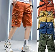 """abordables -Homme Shorts de Randonnée Short de Randonnée camouflage Extérieur 10"""" Coupe Standard Multi-poche Séchage rapide Respirable Anti-transpiration Coton Cuissard  / Short Bas Vert Véronèse Bleu Orange Kaki"""