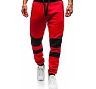 abordables -Homme Joggings Pantalon Couleur Pleine Court Rouge Gris Foncé