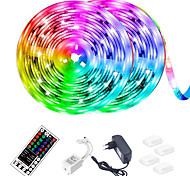 abordables -bande lumineuse led (2 * 5m) 10m 32.8ft 2835 rgb 600leds bandes de 8mm éclairage changeant de couleur flexible avec 44 touches télécommande ir idéale pour la cuisine à la maison noël tv