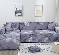abordables -housse de canapé extensible housse de canapé housse de canapé feuille imprimée housse de canapé extensible housse de canapé housses pour 1 ~ 4 coussin canapé avec une taie d'oreiller gratuite