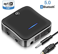 economico -b19 bluetooth5.0 trasmettitore ricevitore csr8675 aptx hd ll bt audio music wireless usb adapter 3.5mm 3.5 aux jack / spdif / rca for tv pc