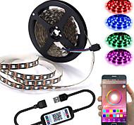 economico -app controllo intelligente bluetooth mesh smart led luci striscia 1m 2m 3m 4m 5m 5050 rgb smd 30 led per metri con ir 24 key controller porta usb dc5v