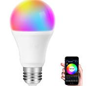abordables -ampoule led intelligente e27 wifi multicolore compatible avec alexa echo google home a19 80w équivalent ampoule RVB couleur changeante