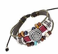 abordables -bracelet en perles de bohême vintage, bracelets tissés à la main multicouche, cordons de chanvre enveloppent des bijoux de bracelet pour hommes et femmes (noir)