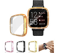 abordables -Fitbit Versa 2 / Versa Watch Case Cover Ultra-Slim Luxury Crystal Screen Protector Cover Cover