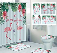 abordables -conception de quatre pièces de toilette de loisirs de rideau de douche de salle de bain