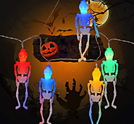 economico -halloween new skeleton string lights 1.5m 10leds aa batteria a batteria ghost festival horror light string halloween luci decorative per esterni