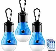 abordables -lampe de tente 3 packs lampe de tente lampes de camping lanternes LED portables lampes de tente compactes pour le camping randonnée randonnée pêche à pied ampoule de secours ouragan suspendu avec 9