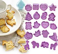 economico -Stampi per biscotti in plastica 4 pezzi stampi per biscotti fai da te per natale, san valentino e giorno del ringraziamento