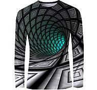 economico -Per uomo maglietta Stampa 3D Pop art 3D Print Con stampe Manica lunga Quotidiano Top Essenziale Elegante Verde
