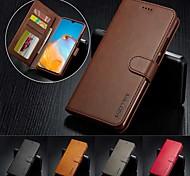 economico -telefono Custodia Per Samsung Galaxy Integrale Custodia in pelle Custodia flip Note 20 Ultra Note 20 Porta-carte di credito Con chiusura magnetica A calamita Tinta unita pelle sintetica