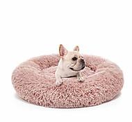 abordables -lit pour chien anti-anxiété calmant les lits pour animaux de compagnie coussin en peluche beignet rond, lavable, 23,6 po