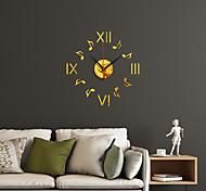 abordables -montre horloge mode bote chiffre romain simple acrylique miroir décoration horloge murale décoration de la maison