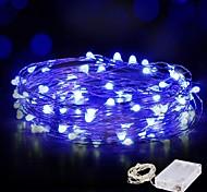 abordables -10m guirlandes lumineuses 100 LED fil étanche guirlande lumineuse guirlande lumineuse 4pcs 2pcs 1pc pour noël mariage maison vacances fête chambre décoration extérieure blanc chaud blanc bleu