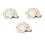 abordables -6pcs 4pcs LED sans conducteur Downlight encastré 2-en-1 3W LED plafond spot lumière chambre éclairage intérieur AC85-265V taille du trou 50-60mm