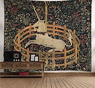 abordables -Tapisserie murale art décor couverture rideau pique-nique nappe suspendu maison chambre salon dortoir décoration polyester cheval licorne fleurs