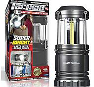 abordables -taclight lantern portable led camping pliable& torche d'extérieur, argent