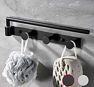 abordables -Porte-serviettes rotatif multifonctionnel avec 3 rangées de crochets en acier inoxydable mural pour salle de bain 1pc