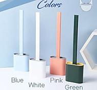economico -scopino per WC in silicone con base porta testina in gomma accessori per il bagno da parete spazzola per pulizia a pavimento
