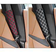 abordables -deranfu niversal coussins de ceinture de sécurité pour voiture couvre la ceinture de sécurité housses de bandoulière coussin de harnais pour voiture / sac à dos confort doux pour vous protéger le cou