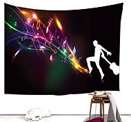 abordables -Tapisserie murale art décor couverture rideau suspendu maison chambre salon décoration polyester note de musique