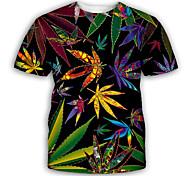 economico -Per uomo maglietta Stampa 3D Pop art Taglie forti Con stampe Manica corta Feste Top Esagerato Blu Rosa Verde