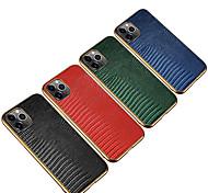 economico -telefono Custodia Per Apple Per retro Custodia in pelle iPhone 12 Pro Max 11 SE 2020 X XR XS Max Resistente agli urti Placcato Tinta unica vera pelle