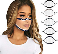 economico -2 pezzi maschere maschera per labbra sordomute maschera per animali domestici trasparente multicolore anti-garretto a prova di polvere