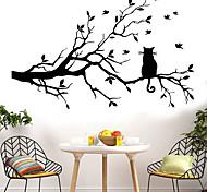 abordables -animaux stickers muraux le chat sur la branche stickers muraux stickers muraux décoratifs pvc décoration de la maison sticker mural décoration de mur / fenêtre 1 pc 58 * 38 cm