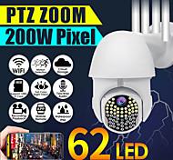 economico -1080p hd ip cctv era sorveglianza ip67 telecamera esterna impermeabile wi-fi ptz 2mp 62led h.264 telecamera di sicurezza ir