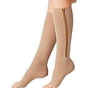 abordables -chaussettes de compression orteil soutien des jambes ouvertes bas chaussettes hautes avec fermeture à glissière