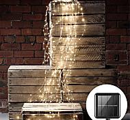 abordables -2pcs 1pcs extérieur 2mx10pcs 200led branche de vignes solaires LED chaîne fée lumière extérieure jardin clôture arbre LED chaîne fée branche lumière