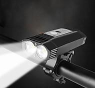 economico -k-21 serie professionale potente faro impermeabile a doppio led luminoso da 2000 lumen | supporto per barra o casco con sgancio rapido | Batteria ricaricabile agli ioni di litio a 4 celle |
