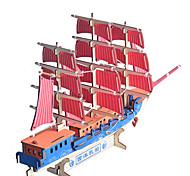abordables -Puzzles 3D Puzzle Maquettes de Bois Navire de Guerre Bâtiment Célèbre Maison En bois Bois Naturel Unisexe Jouet Cadeau
