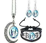 abordables -jack et sally cauchemar avant Noël collier pendentif lune, boucles d'oreilles, bracelet, cadeau de charmes (b)