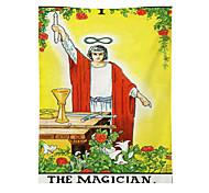 abordables -tapisserie murale art décor couverture rideau pique-nique nappe suspendu maison chambre salon dortoir décoration polyester médiéval homme tenant bougie