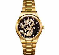 economico -orologio da polso da uomo al quarzo con drago d'oro da uomo, cinturino in acciaio inossidabile, regali, padre, marito, figlio